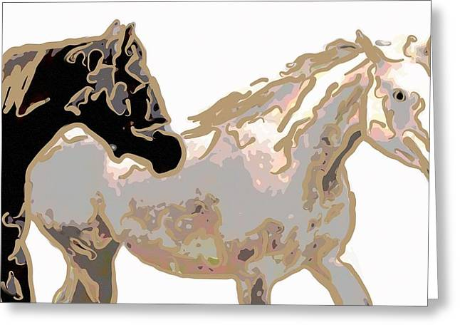 Horses Running Free Greeting Card by Tommytechno Sweden