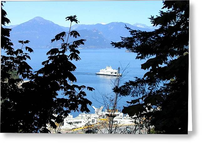 Horseshoe Bay Ferry Terminal Greeting Card by Will Borden