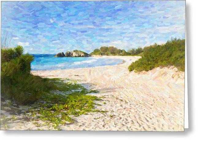 Horseshoe Bay In Bermuda Greeting Card