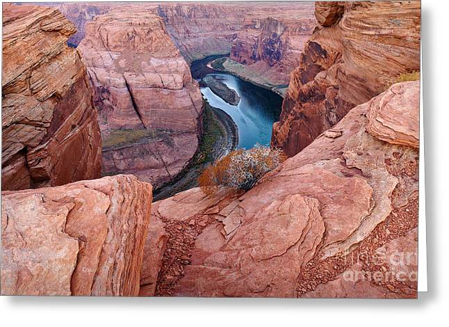 Greeting Card featuring the photograph Horseshoe Bend At Dawn by Mae Wertz