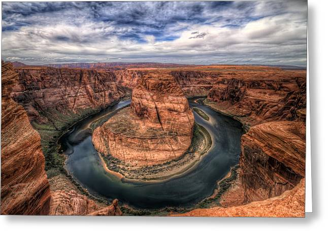 Horseshoe Bend Greeting Card by Brad Granger