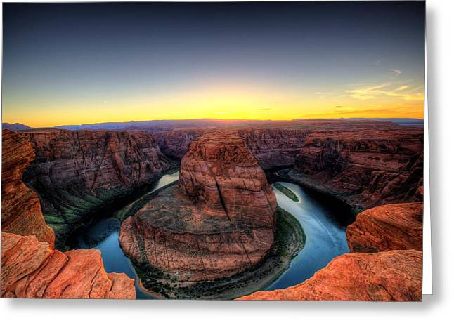 Horseshoe Bend Greeting Card by Dave Files