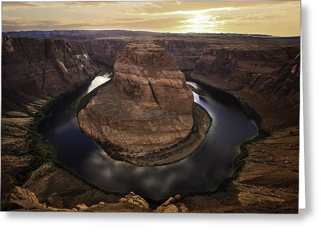 Horseshoe Bend Greeting Card by Larry Marshall