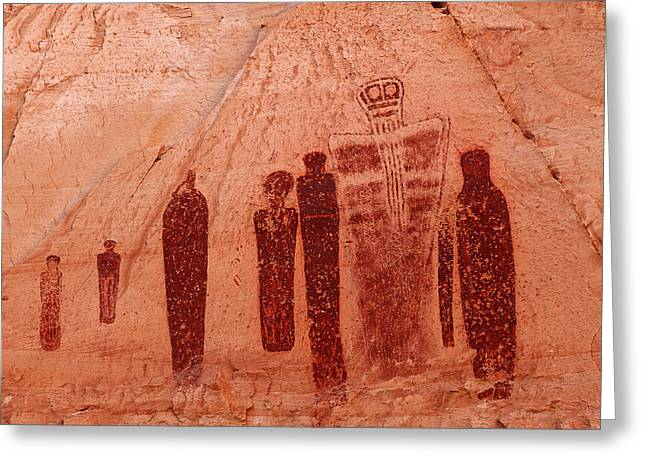 Horseshoe Canyon Pictographs Greeting Card