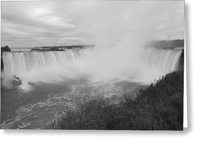 Horseshoe Falls - Autumn - B N W Greeting Card