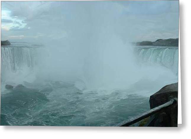 Greeting Card featuring the photograph Horseshoe Falls by Dennis Lundell