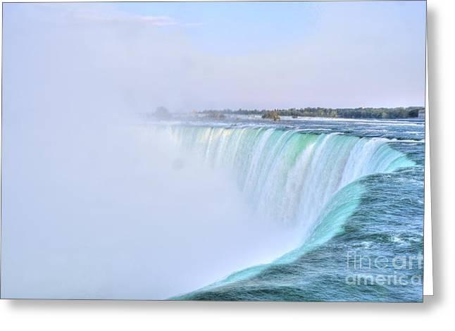Horseshoe Falls Greeting Card by Kathleen Struckle