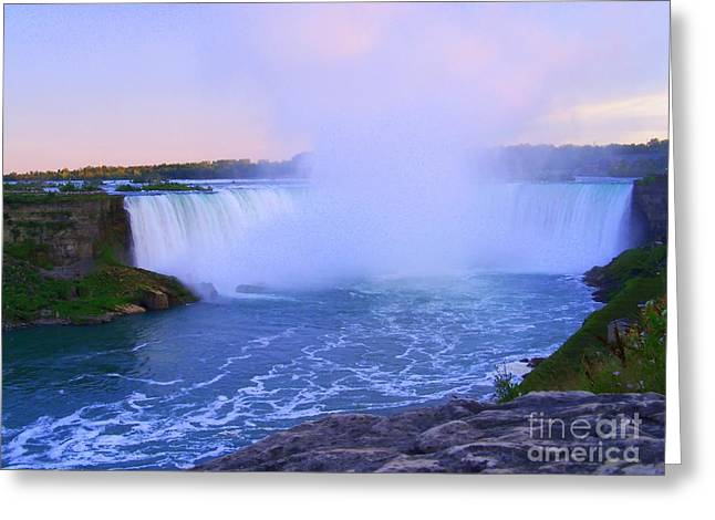 Horseshoe Falls Sunset In The Summer Greeting Card