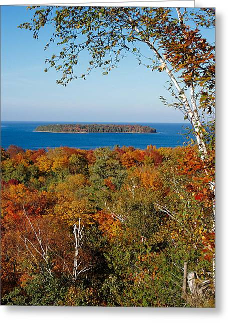Horseshoe Island Greeting Card