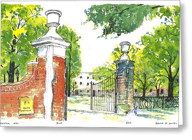 Horseshoe University Of S.c. Greeting Card