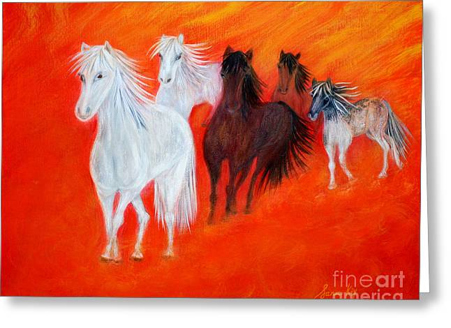 Horses.soul Collection. Greeting Card