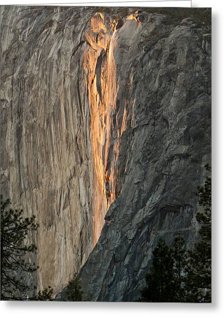 Horsetail Falls Sunset Greeting Card by Patricia Sanders