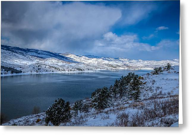 Horsetooth Reservoir Looking North Greeting Card by Harry Strharsky