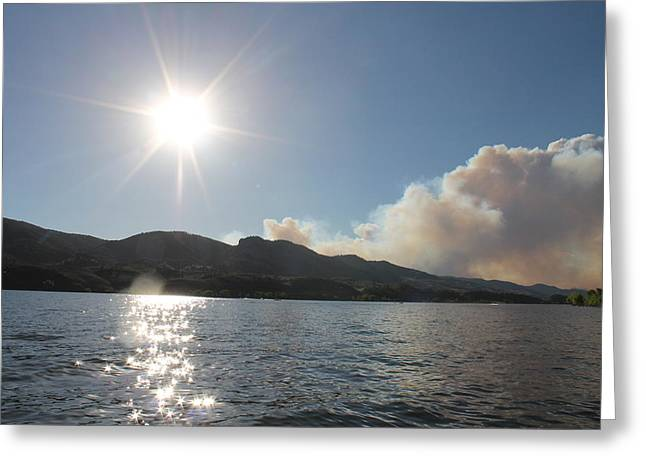Horsetooth Wildfire Greeting Card by Holly OBriant