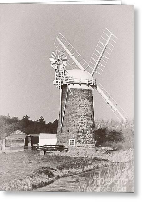 Horsey Wind Pump Vertical Greeting Card