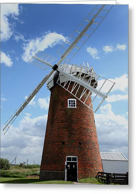Horsey Windpump Greeting Card by Paul Lilley