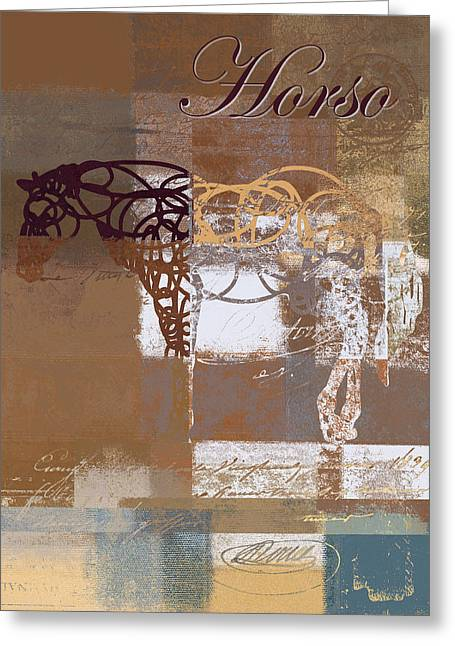 Horso - S03bgmc1tx Greeting Card by Variance Collections