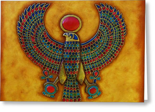 Horus Greeting Card by Joseph Sonday