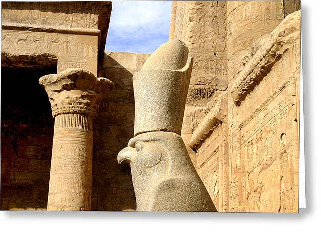 Horus The Hawk Headed God Greeting Card by Brenda Kean
