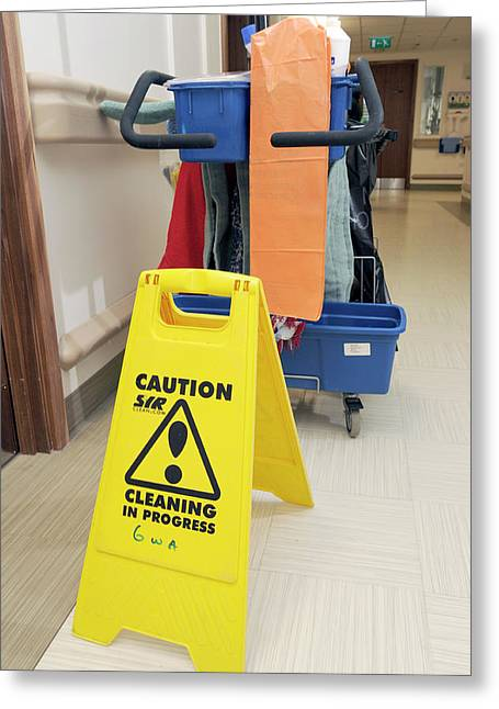 Hospital Cleaning Equipment Greeting Card