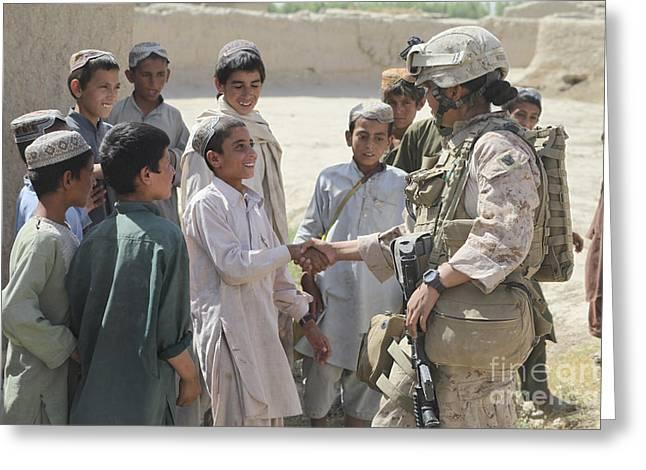 Hospital Corpsman Greets Afghan Greeting Card