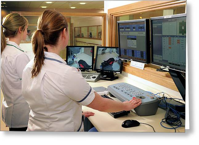 Hospital Radiography Control Room Greeting Card by Public Health England