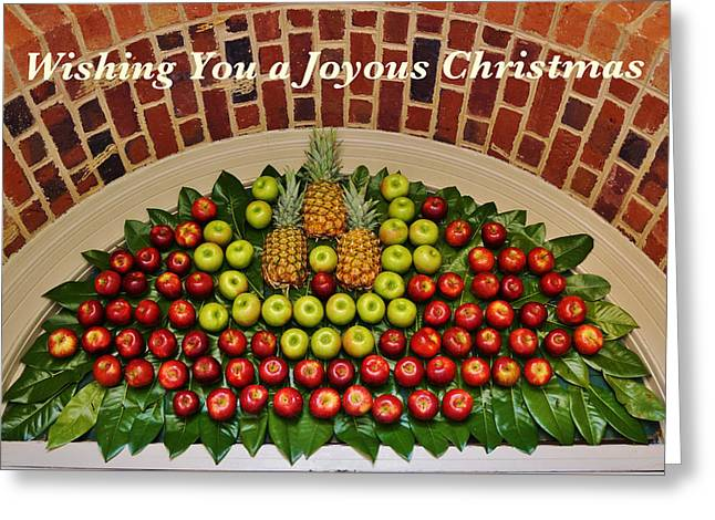 Hospitality And Welcome Christmas Card Greeting Card by Jean Goodwin Brooks