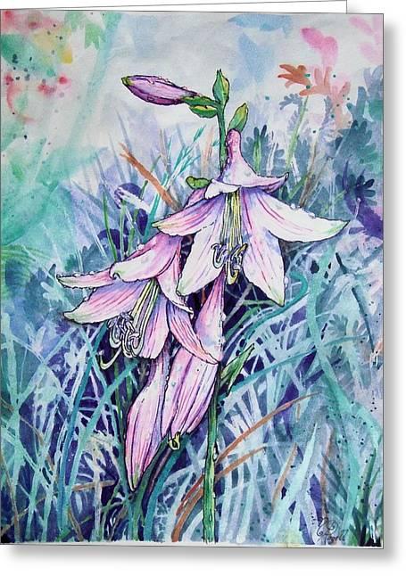 Hosta's In Bloom Greeting Card
