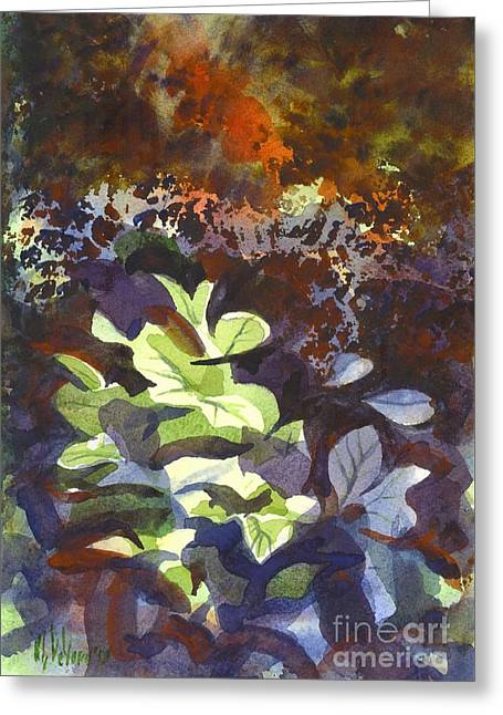 Hostas In The Forest Greeting Card by Kip DeVore