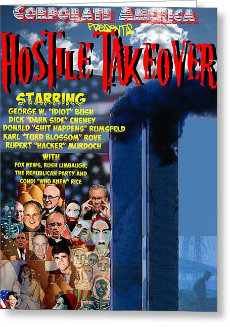Hostile Takeover Greeting Card by James Gallagher