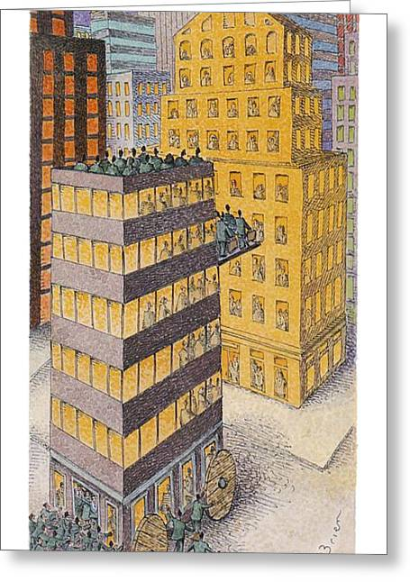 Hostile Takeover Greeting Card by John O'Brien
