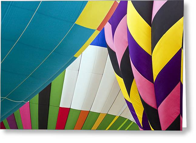 Hot Air Balloon Greeting Card by Marcia Colelli