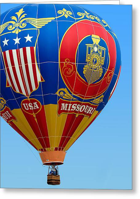 Hot Air Balloon - Missouri Usa Greeting Card by Nikolyn McDonald