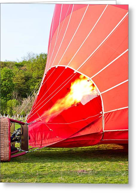 Hot Air Balloon Greeting Card by Tom Gowanlock