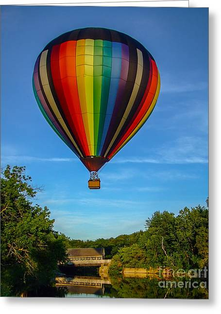 Hot Air Balloon Woodstock Vermont Greeting Card