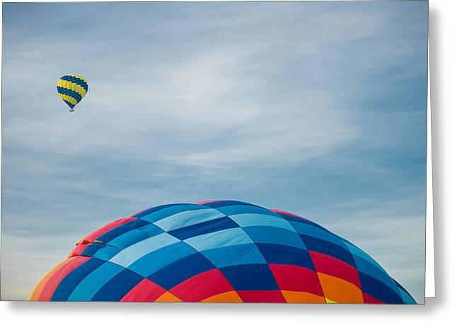 Hot Air Balloons Greeting Card by Steve Gadomski