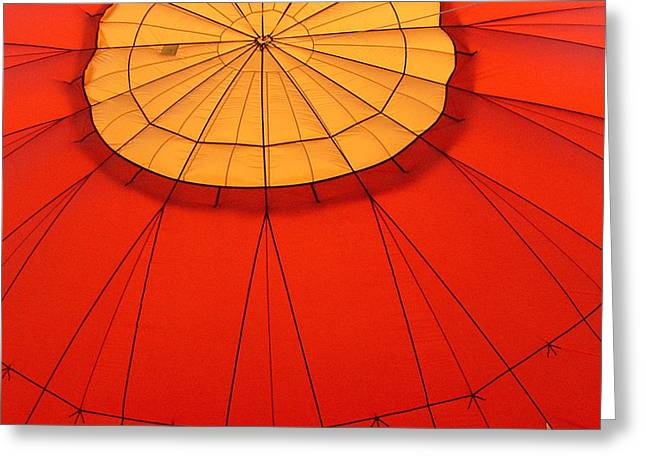 Hot Air Balloon At Dawn Greeting Card by Art Block Collections