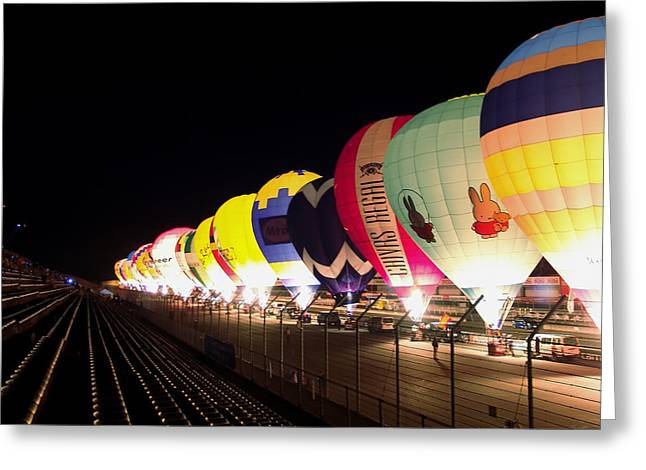 Greeting Card featuring the photograph Balloon Glow by John Swartz