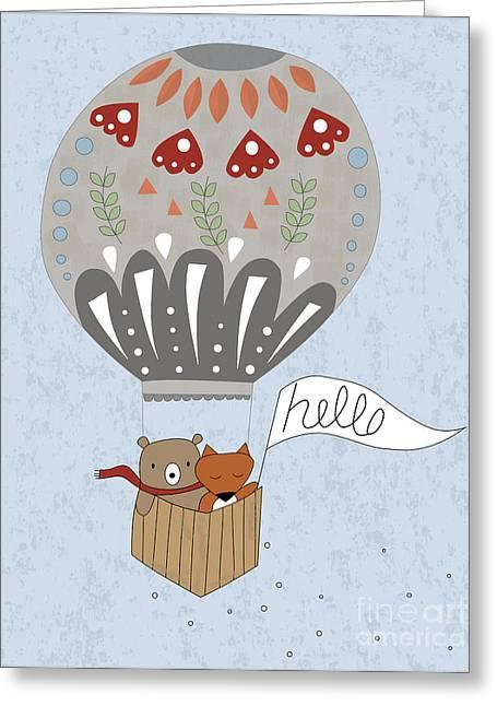 Hot Air Terrarium Greeting Card by Kathrin Legg