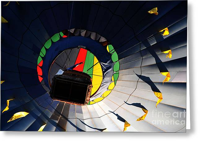 Hot Air Up Greeting Card by Leon Hollins III
