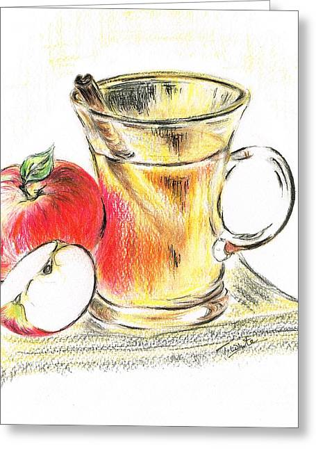 Hot Apple Cider Greeting Card