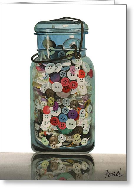 Greeting Card featuring the painting Hot Buttons by Ferrel Cordle