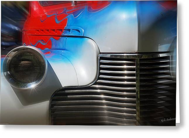 Hot Chevy Greeting Card by Mick Anderson