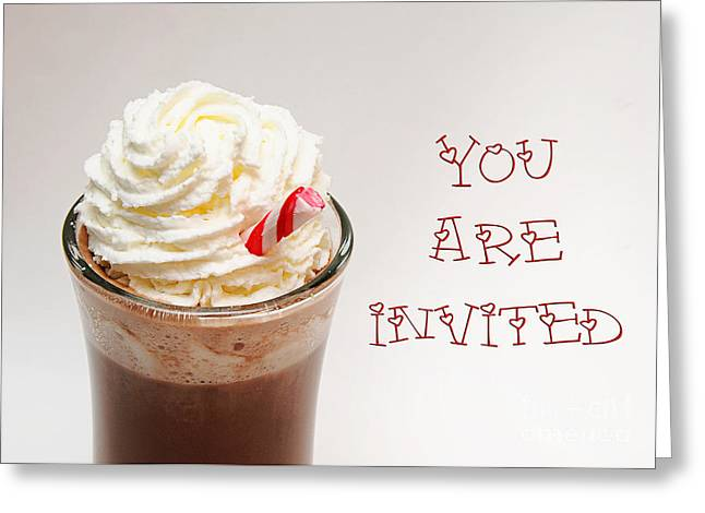 Hot Chocolate And Whipped Cream Invitation Greeting Card