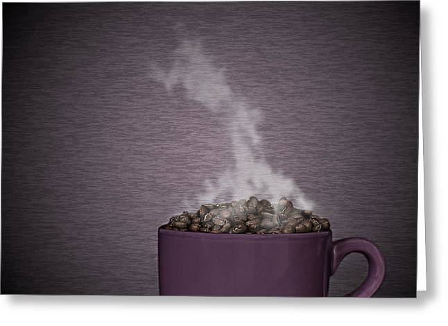 Greeting Card featuring the photograph Hot Coffee by Gert Lavsen