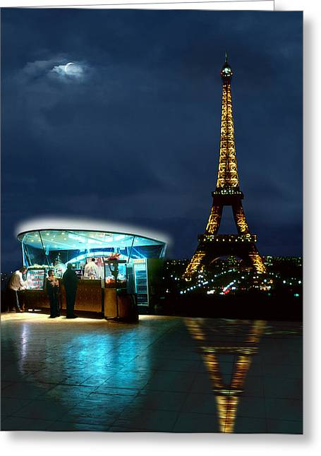 Hot Dog In Paris Greeting Card by Mike McGlothlen