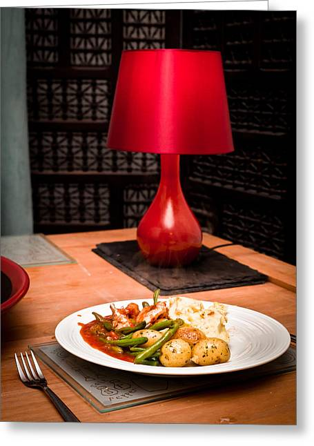 Hot Meal Greeting Card
