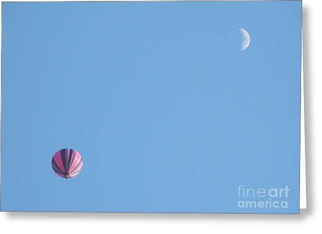 Hot Moon Greeting Card by Erick Schmidt