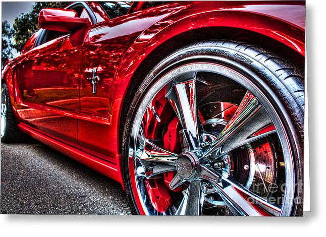 Hot Mustang Greeting Card by Tommy Anderson