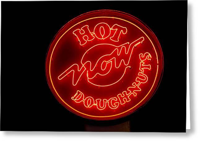 Hot Now Krispy Kreme Greeting Card